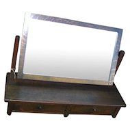 Antique Stickley Brothers Table Mirror with Two Drawers  w2008