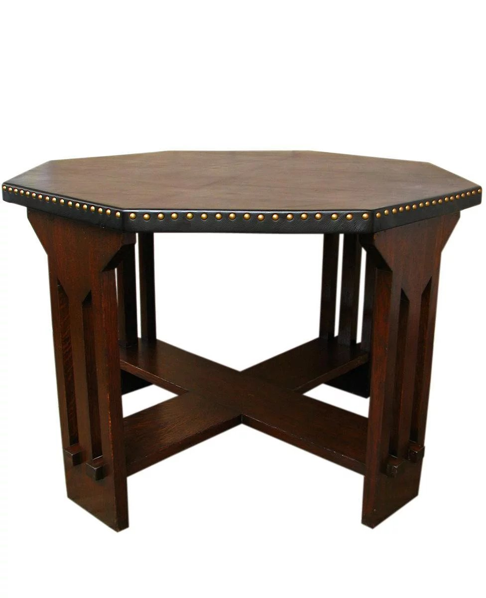 Click to expand - Antique Michigan Chair Company Game Table W1067 : Antique Mission