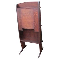 "Antique ""Gustav Stickley"" Chalet Drop Front Desk   w1104  This desk is no longer for sale."
