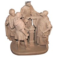 Antique John Rogers Statue (Depicting Shakespeare Scene)  w1204