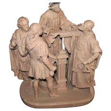 Antique John Rogers Statue (Depicting Shakespeare Scene)  w1204