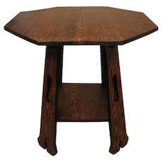 Antique Limbert Lamp Table   w1309