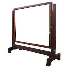 Antique Arts & Crafts/ MISSION Shaving Mirror Oak  w1422