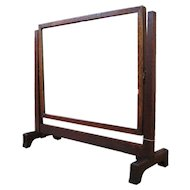 Antique Arts & Crafts Shaving Mirror MISSION Oak  w1422