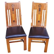 Rare Shop of Crafter Pair of Side Chairs w1428