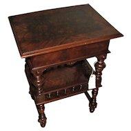 Antique Walnut Victorian Vanity Stand  w1504