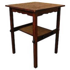 Antique Arts & Crafts Lamp Table w1564