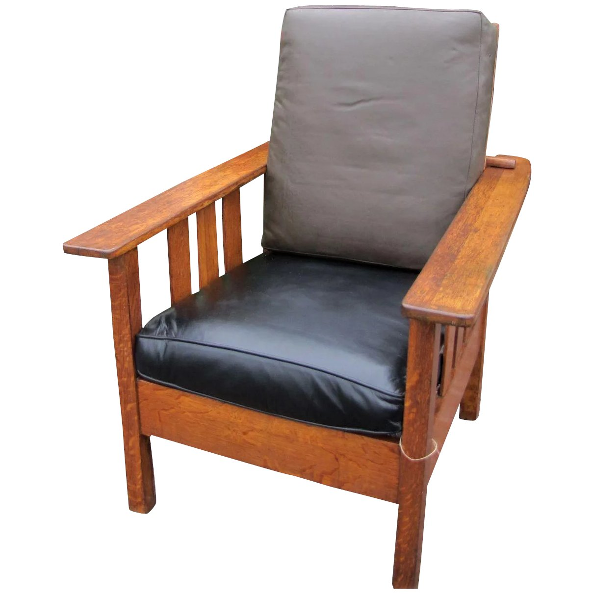 Antique Limbert Style Morris Chair w1605. Click to expand - Antique Limbert Style Morris Chair W1605 : Antique Mission Furniture