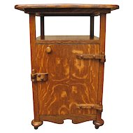 Antique Arts & Crafts Smoking Stand  w1631