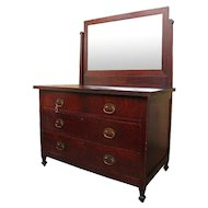 Superb Antique Roycroft Dresser With Mirror w1720
