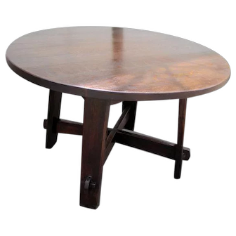 Early & Rare Antique Gustav Stickley Table w1820