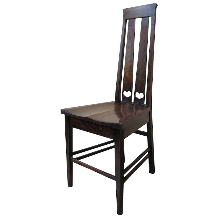 Antique Stickley Brothers Hall Chair w1829_2 - Antique Stickley Brothers Hall Chair W1829_2 : Antique Mission