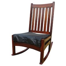 Antique L&jG Stickley Early Rocking Chair  w1948