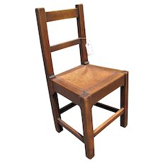 Antique Roycroft Small Side Chair  w1979