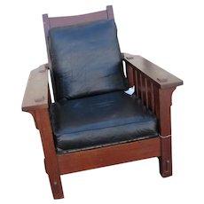 Superb Antique L&jG Stickley Onondaga Shop Morris Chair  w2018