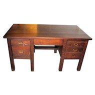 Antique Model 711 Gustav Stickley 8-leg Desk w2118