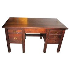 Antique Model 711 Gustav Stickley 8-leg Desk w2118