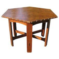 Antique Arts & Crafts Hexagon Table  w2120