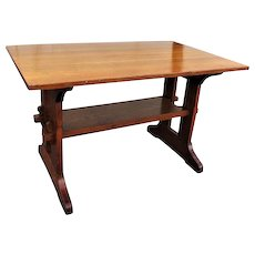 Antique L&jG Stickley Trestle Table w2179
