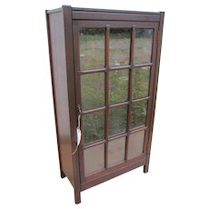Antique Arts & Crafts One Door Bookcase  w2197
