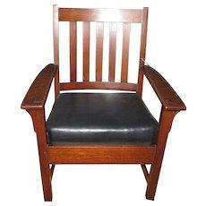 Superb Antique Limbert Good Arm Chair w2228
