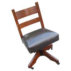 Antique L&jG Stickley Swivel Office Chair  w2231