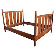 Superb Antique Gustav Stickley Full Size Bed  w2235
