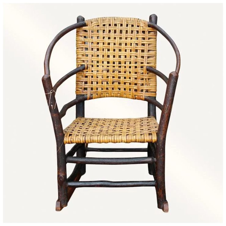 Antique Old Hickory Rocking Chair w2240 - Antique Old Hickory Rocking Chair W2240 : Antique Mission Furniture
