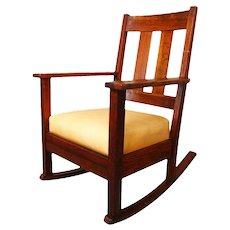 Antique Arts & Crafts Sikes Rocking Chair  w227_1