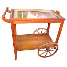 Antique Stickley Brothers Tea Cart  w2292
