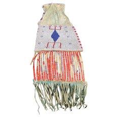 Antique & Rare Native American Pipe Bag  w2334