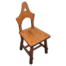 Antique Rare & Early Charles Limbert Hall Chair w2364