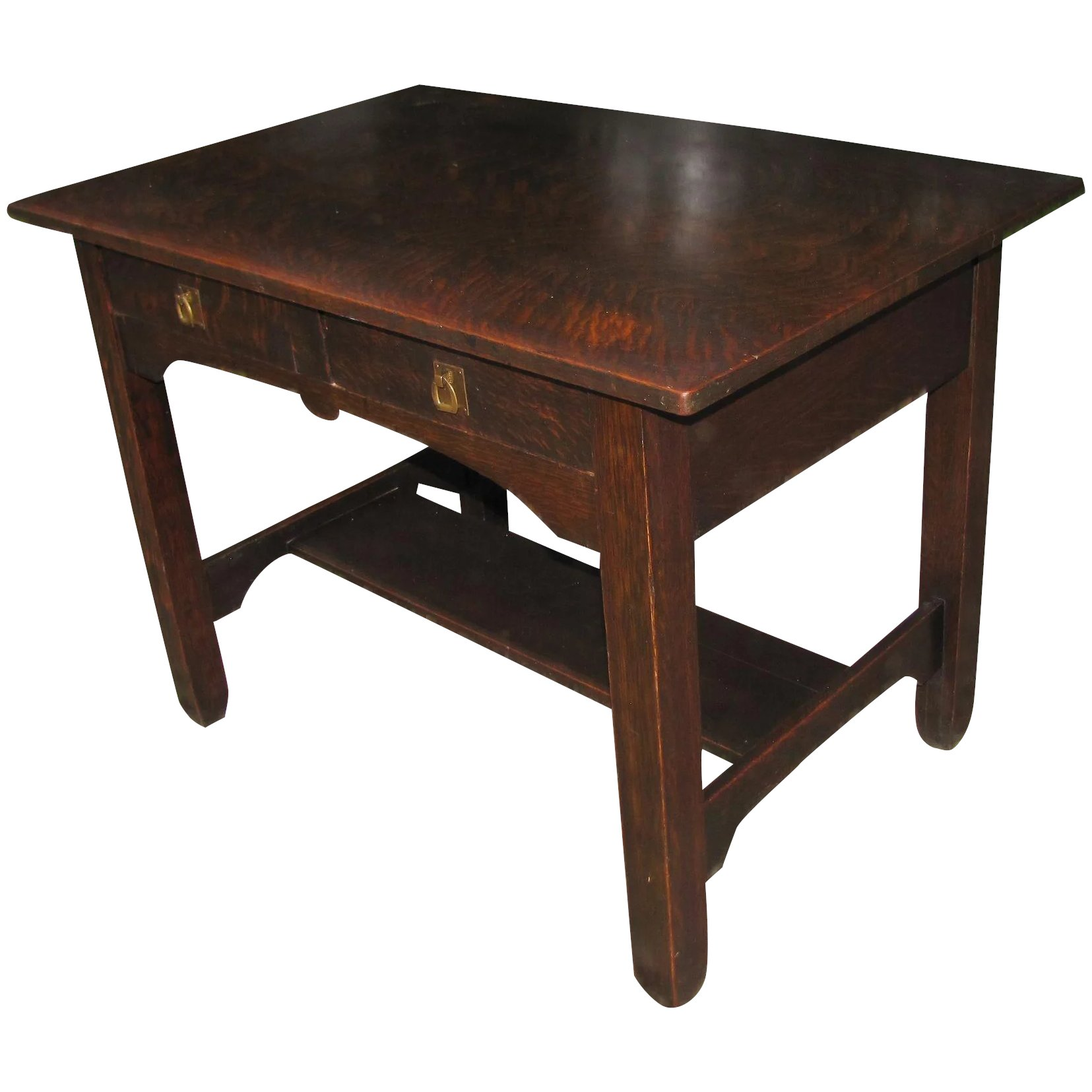 Antique Stickley Brothers Library Table Desk w2373 Antique