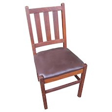 Antique Arts & Crafts Gustav Stickley Side Chair w2396