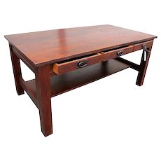 Antique Gustav Stickley Large Library Table w2415