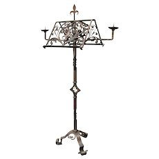 Antique Wrought Iron Music Stand  w242