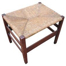 Antique Gustav Stickley Large Footstool  w2439