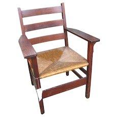 Antique Gustav Stickley Arm Chair  w2477