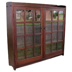 Good Antique Gustav Stickley Two Door Bookcase  w2501