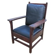 Antique Larger Gustav Stickley Arm Chair  w2502