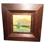 Antique Marblehead Framed Tile  w2515
