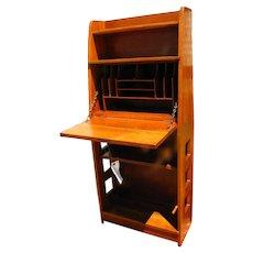 Superb & Rare Antique Limbert Drop Front Desk with Cutouts  w2524  (Stickley Era)