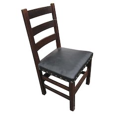 Superb Antique Arts & Crafts Heavy Side Chair  w2599
