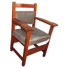 Superb Antique Early Gustav Stickley Paddle Armchair  w2602