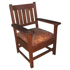 Antique Early Gustav Stickley Arm Chair w2616