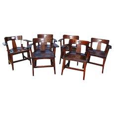 Superb Rare Set of Six Antique Limbert Cafe Chairs w2623