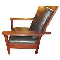 Antique Gustav Stickley Morris Chair  w2655
