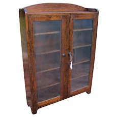 Vintage Oak Bookcase  w2664