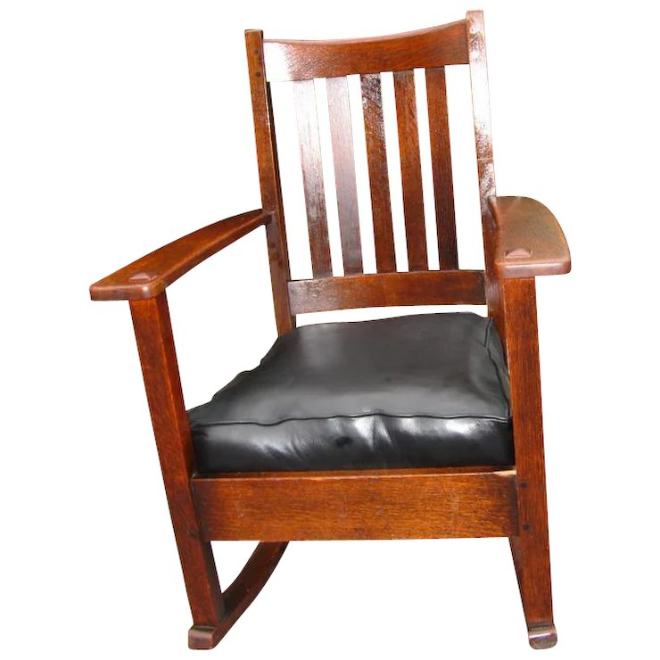 Antique Good High Back Limbert Arm Rocking Chair w2698 - Antique Good High Back Limbert Arm Rocking Chair W2698 : Antique