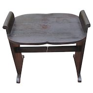 "Antique ""Arts & Crafts"" Hall Seat w2709"